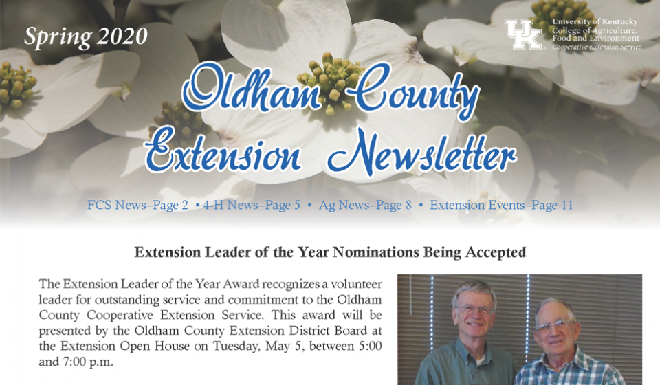 oldham county extension news